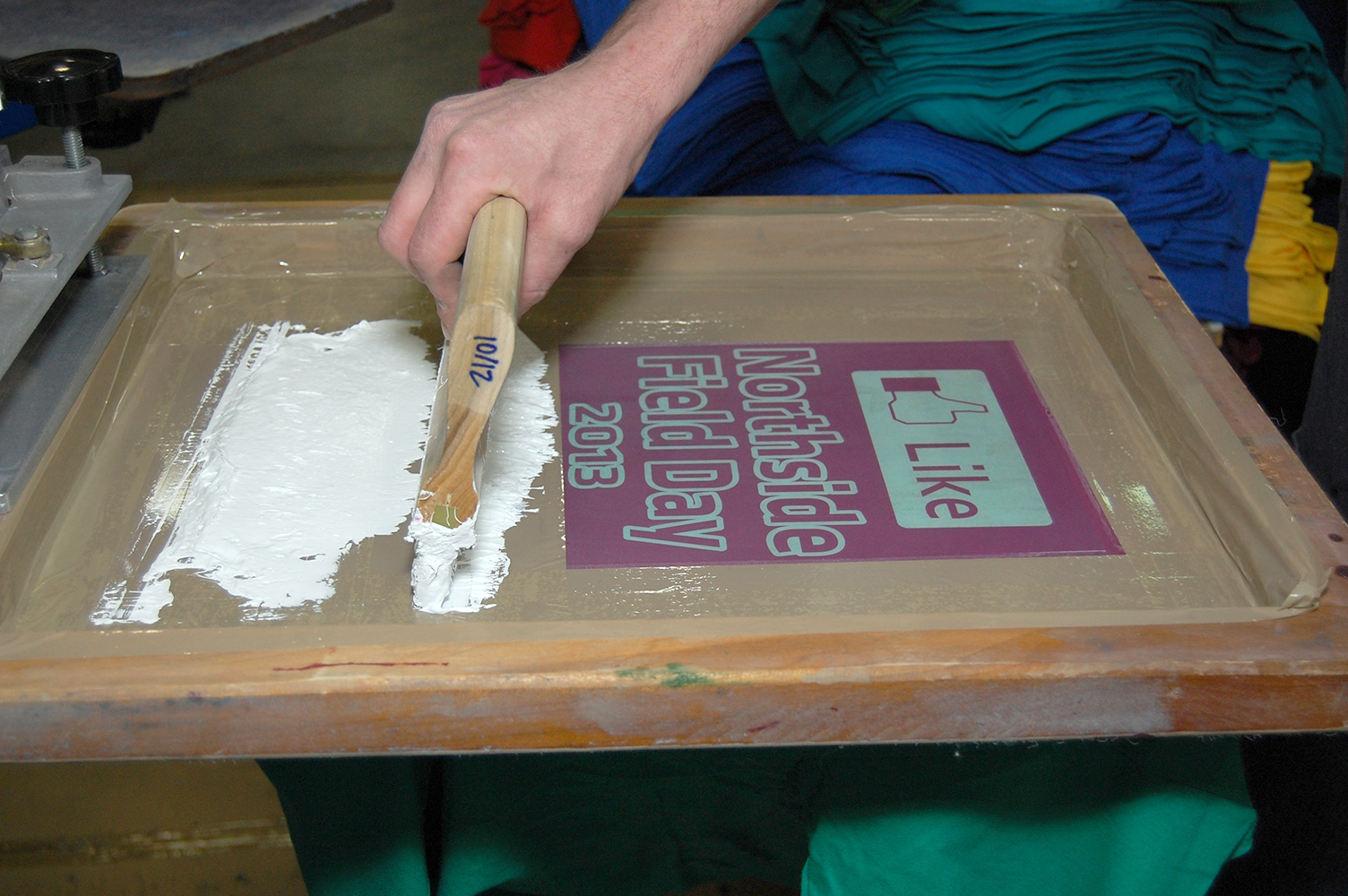 School shirt design your own - The Next Stop For Your Order Is Our Screen Printing Department School Tee Factory Hand Prints Every Item Using The Traditional Direct Screen Printing